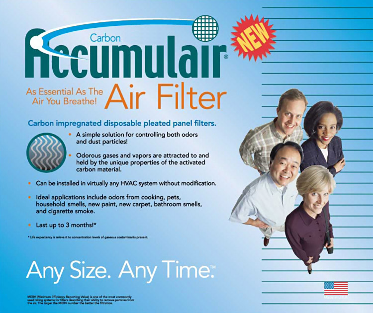 Accumulair Carbon Odor Block™ Front Cover